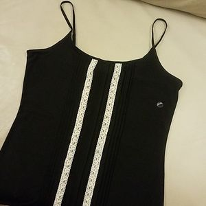 The Limited Black and Cream Lace Detail Cami